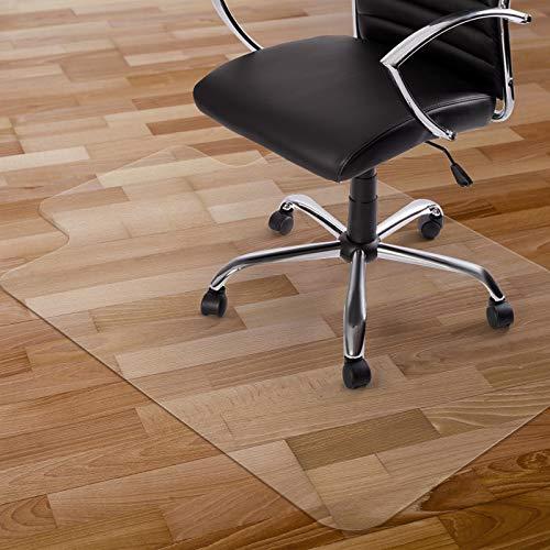 Kuyal Alfombrilla para Silla con Ruedas de 2 mm para Suelo de Madera Dura, PVC Transparente para el hogar, Oficina o Piso (90 x 120 cm con Labio)