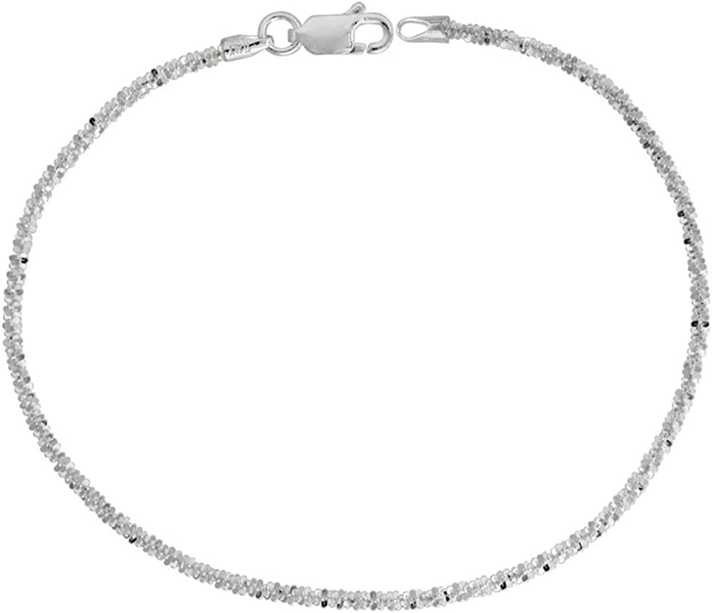 40% OFF Cheap Sale Sterling Silver Sparkle Chain Outstanding Diamon 1.8mm Necklaces Bracelets