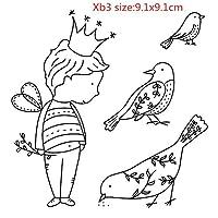 DIYスクラップブッキング/カード作成/キッズクリスマス楽しい装飾用品タンポン用の9x9男の子透明クリアパターンスタンプ