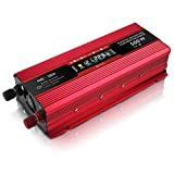 Car Power Inverter DC 12V to 220V AC Converter with LCD Display and USB for Car Home Laptop Truck (500W)