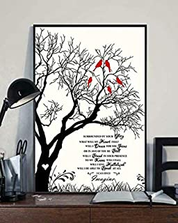 Rainbow Store MercyMe Poster I Can Only Imagine Lyrics Portrait Paper Poster