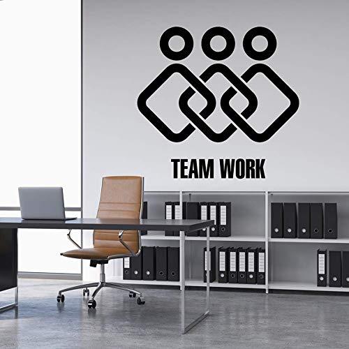 yaonuli Kreative teamarbeit Home Office Dekoration wandaufkleber Aufkleber Vinyl Aufkleber abnehmbare zusammenarbeit Arbeit Aufkleber murals67x63cm