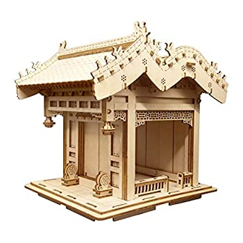 CHUKER 3D Puzzle Wooden Model Kits for Adults DIY Craft Toys Gifts Festoon Gate of China Architecture
