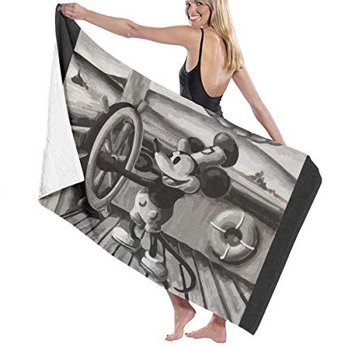 Mickey Mouse Steamboat Willie Toalla de baño de playa de piscina de 81,2 x 132,1 cm para mujeres, niños, niñas, adultos, hombres, Mickey6