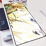 Alfombrilla de Ratón Gaming Juego Mouse Pad Large Mouse Mat Mat Natsume Yuujinchou Juego Teclado Mat Cafe Mat Extended Mousepad for computadora de Escritorio PC Mouse Pad