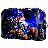 Bolso de Cosméticos Neceser de Viaje para Mujer y Niñas Organizador de Bolso Cosmético Accesorios de Viaje Estuche de Maquillaje Jugador de Rugby 18.5x7.5x13cm