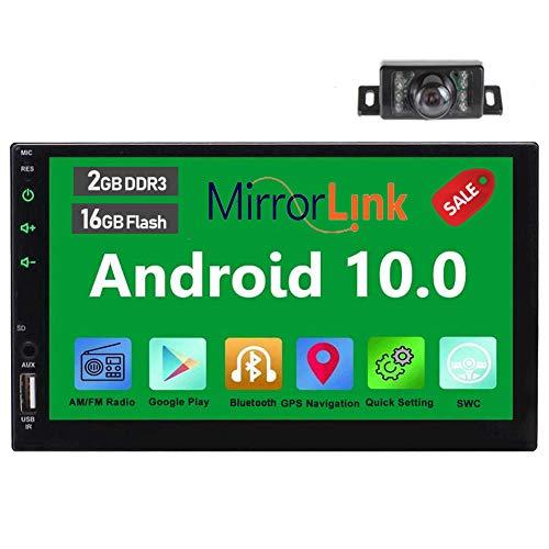 Touch screen capacitivo EinCar Android da 7 pollici il video 6.0 Lettore Quad Core 1.6GHz 16GB Doppio 2 din in precipitare stereo GPS Autoradio supporto WiFi MirrorLink 1080P Video Player con macchin