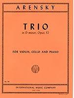 アレンスキー : ピアノ三重奏曲 ニ短調 Op.32/インターナショナル・ミュージック社/演奏用パート譜セット