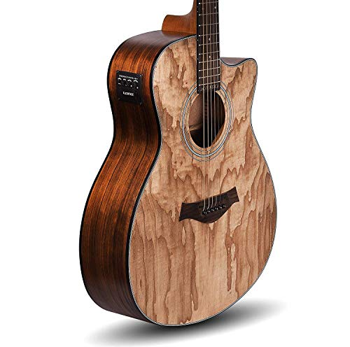 Kadence Acoustica Series,Semi Acoustic Guitar Ash Wood with Equlizer A-06-EQ