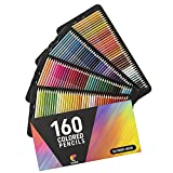 160 Lapices de Colores (Numerados) Zenacolor - Almacenamiento Fácil - Estuche Lapices dibujo profesional para Adultos - Ideal para Colorear, Mandalas Colorear Adultos, Material Escolar