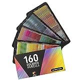 160 Matite Colorate (Numerate) Zenacolor - Facili da Riporre - Scatola di Matite Colorate Professionali per Adulti - Ideali per Colorare, Mandala, Disegnare, Astuccio Cancelleria Scuola