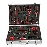 XINXI-YW Durable Exquisita Caja de Aluminio 60 Juegos de Herramientas eléctricas combinadas for el hogar Juego de hogar