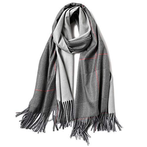 MCZWJ Grote sjaal winter plaid damessjaal dikke warme zachte sjaal versiering dames 190 cm * 65 cm