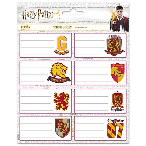 Erik Aufkleber - Etiketten Harry Potter Griffindor Selbstklebend zum Beschriften, ELE0255