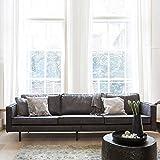 Pharao24 Sofa aus Recycling Leder Schwarz