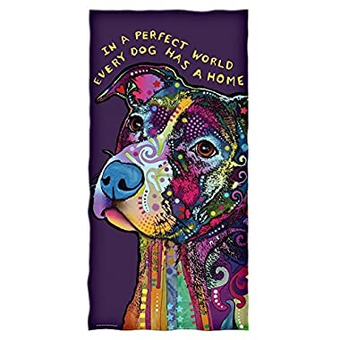 Dean Russo Perfect World Every Dog Has a Home Cotton Beach Towel