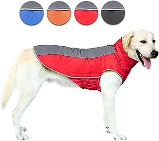 AOFITEE Waterproof Reflective Winter Dog Coat, Windproof Warm Fleece Lined Puppy Jacket, Lightweight Pet Sport Vest Outdoor Apparel for Small Medium & Large Dogs