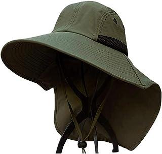 XUERUI Sombrero para El Sol Hombre Primavera Y Verano Protector Solar Visera Impermeable Protección UV Sombrero De Playa La Pesca Sombrero De Pescador Ocio (Color : C, Tamaño : 54-60cm)