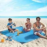 4UMOR Manta de Acampada Jardín Estera de Picnic Alfombra de Playa Tienda de Campaña Impermeable Prevención de Arena 140cm*200cm, Azul