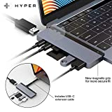 HyperDrive USB C Hub, Best Mac Type-C Dual Hub Adapter for MacBook Pro Air 2020 2019 13' 15' 16' & iPad Pro, USB-C Devices, 7in2: USBC PD 100W 40Gbps, 4K HDMI, microSD/SD Card Reader, 2xUSB 3.1 Sanho