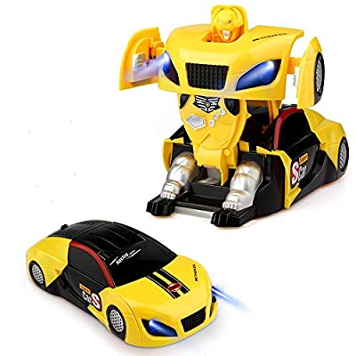 Epoch Air Remote Control Car, Kids Toys Transform Robot RC Car Dual Modes 360° Rotation Stunt Cars with Wall Function Electric Vehicle Gadget for Boys Girls Children