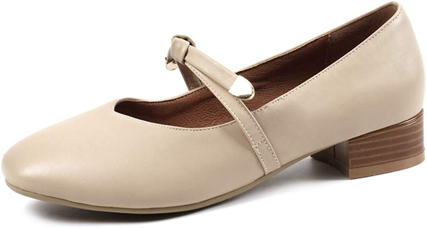 68d84ca36a Elsa Wilcox Women Square Toe Slip On Leather Low Heel Retro Uniform Dress  Loafer shoes Mary