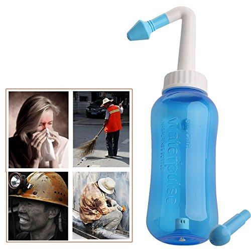 Mayoaoa Nasendusche, Nasenspülungen, Nasenspülkanne, Nasenreinigung, Nasenspülung Nasenspülsystem Nasennebenhöhlen Und Allergien Linderung des Nasendrucks Spülen Sie Den Neti-Topf Aus