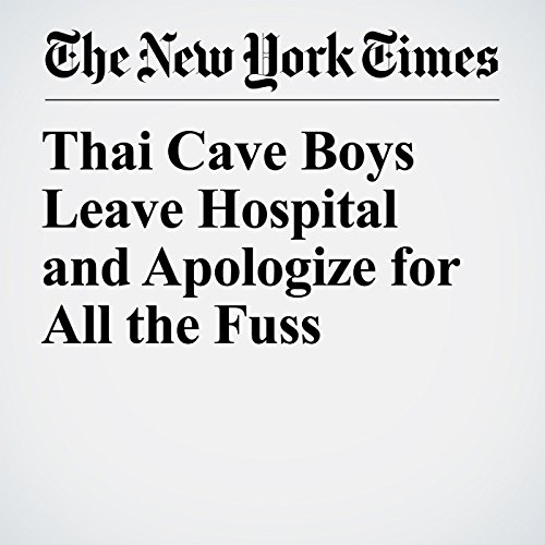 Thai Cave Boys Leave Hospital and Apologize for All the Fuss copertina