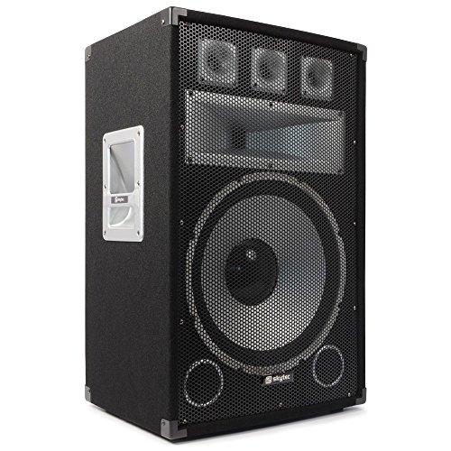 Skytec TX15 Lautsprechersystem (3-Wege, freistehend, mit Kabel, schwarz, 25-20000 Hz)