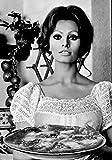Mangiaspaghetti cod. 35 Sofia Loren in A4 cm 21x30 Poster