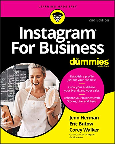 Instagram For Business For Dummies, 2nd Edition Front Cover