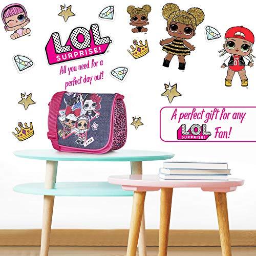 L.O.L. Surprise! LOL Dolls Handbag For Girls and Teens With Doll Rocker, Diva And Beats | Pink Kids Handbag Crossbody | Children Cross Body Bag | Fashion Girls Shoulder Bags For Kids