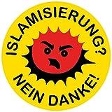 Aufkleber / Sticker - Islamisierung? Nein danke! (Sticker-Set, 10 Stück)