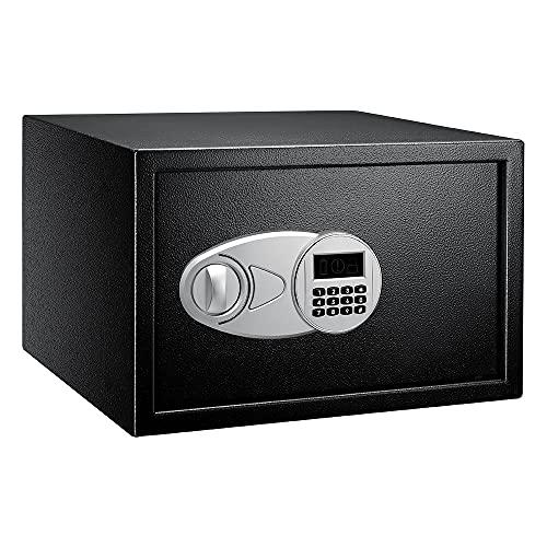Amazon Basics - Caja fuerte (34 l), color negro
