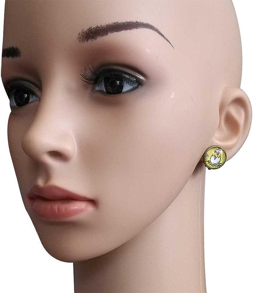 GiftJewelryShop Bronze Retro Style Llama Photo Clip On Earrings 14mm Diameter