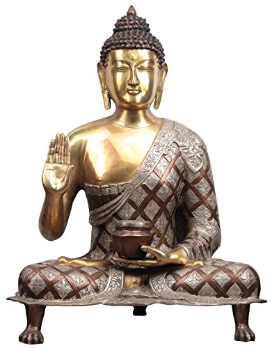 Exotic India Blessing Buddha - Brass Statue