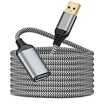 2 Pack 16FT USB Extension Cable USB 3.0 Extension Cord Type A Male to Female Durable Material Fast Data Transfer Compatible with Printer USB Keyboard Flash Drive Hard Drive Playstation