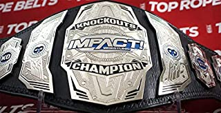 Maxan Impact Knockouts Championship Belt Replica Leather Wrestling Title Belt Adult Size