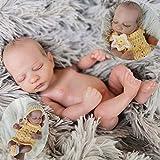 "ZXYMUU 10""Mini-Reborn Doll Relay Muñecas Baby Muñecas Bonita y Linda Reborn Baby Doll Soft Vinyl Sil..."