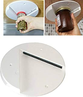 Jar Opener Tool, SUJING Under the Kitchen Cabinet Counter Top Lid Remover Bottle Top Opener