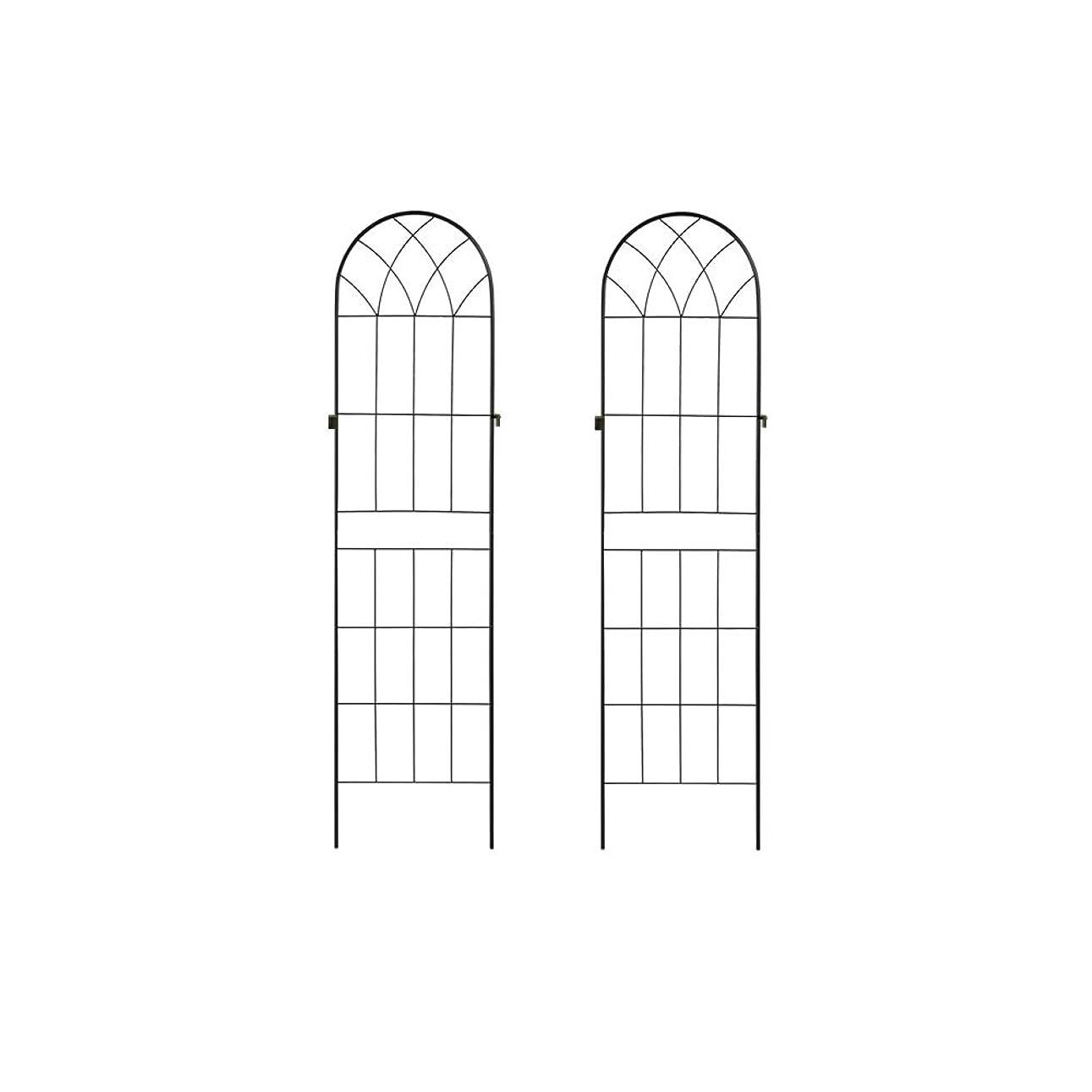 ネックレス泳ぐ傘ぼん家具 トレリス ガーデンフェンス ラティス グリーンカーテン ガーデニング 2枚セット ブラック