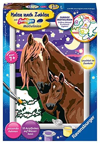 Ravensburger Malen nach Zahlen 27844- Pferde - Für Kinder ab 7 Jahren