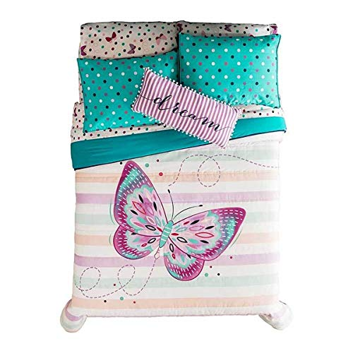 Purchase JORGE'S HOME FASHION INC Polka DOTS and Butterfly Teens-Kids Girls Reversible Comforter S...