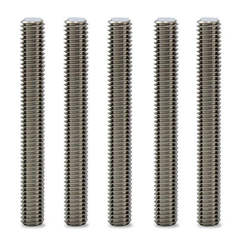 Aussel 5 pezzi M6 x 40 mm ugello gola per stampante 3d estrusore accessori per MakerBot MK8 (M6*50mm)