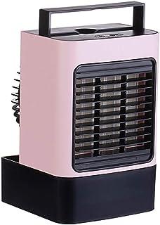 HUIJ Aire Acondicionado Portátil batería Air Cooler Humidificador Enfriador de Aire Ventilador de Aire purificado de Agua y Aire Usado en Dormitorio(Blanco,Rosa,Azul,Verde)