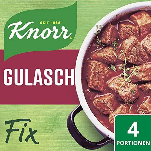 Knorr Fix Würzbasis (für die schnelle Zubereitung Gulasch ohne geschmacksverstärkende Zusatzstoffe) 4 Portionen