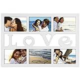 Hama Budapest - Love Blanco Portafotos múltiple - Marco (Sintético, Blanco, Portafotos múltiple, 10 x 15 cm, Reflectante, 1 Pieza(s))