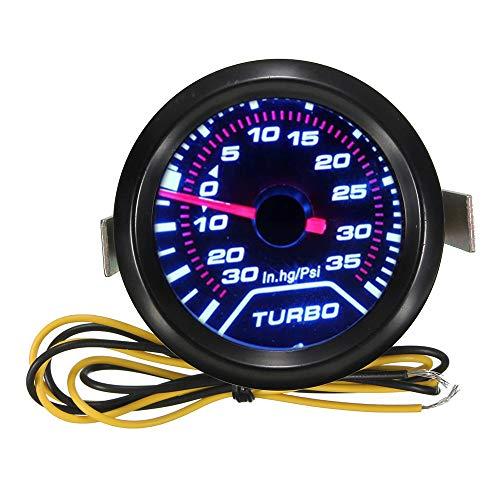 Carrfan Medidor de Presión de Calibre de Coche Universal de 52 mm Medidor de Presión de Turbo LED Digital Indicador de Medidor Dial de Refuerzo de Cara