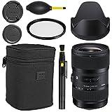 Sigma 18-35mm f/1.8 DC HSM Art Lens (Canon) - Black + Essential Bundle Kit - International Version (1 Year AOM Warranty)