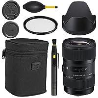 Sigma 18–35mm f / 1.8DC HSM Artレンズfor Canon + Essentialバンドルキット+ 1年保証–インターナショナルバージョン